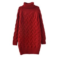 New Women Sweaters Long Turtleneck Knitted Pullover And Jumpers 2017 Fall Winter Warm Casual Pullover Sweaters