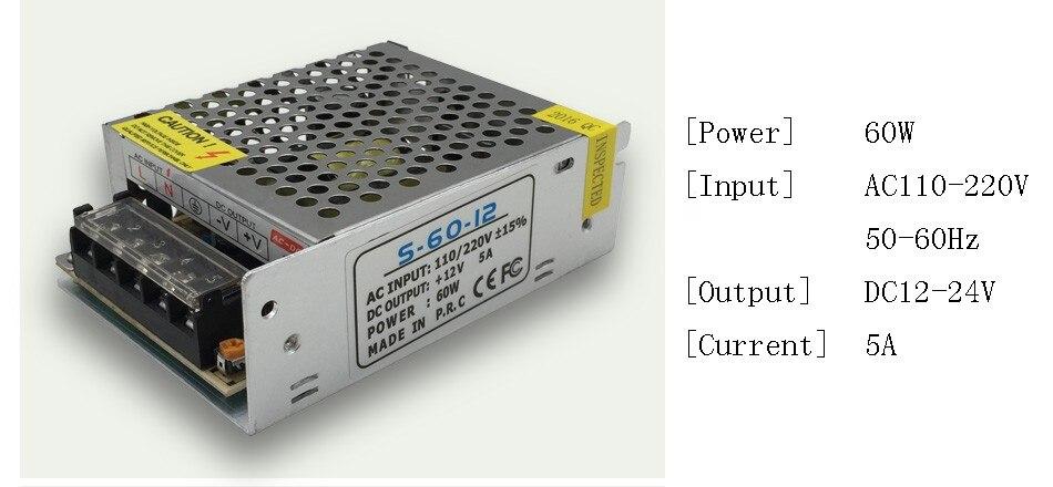 DC 12V LED strip driver Power Adapter 1A 2A 3A 5A 10A 15A 20A Switch Power Supply AC110V-220V 24V Transformer Power 60W 78W 120W(3)
