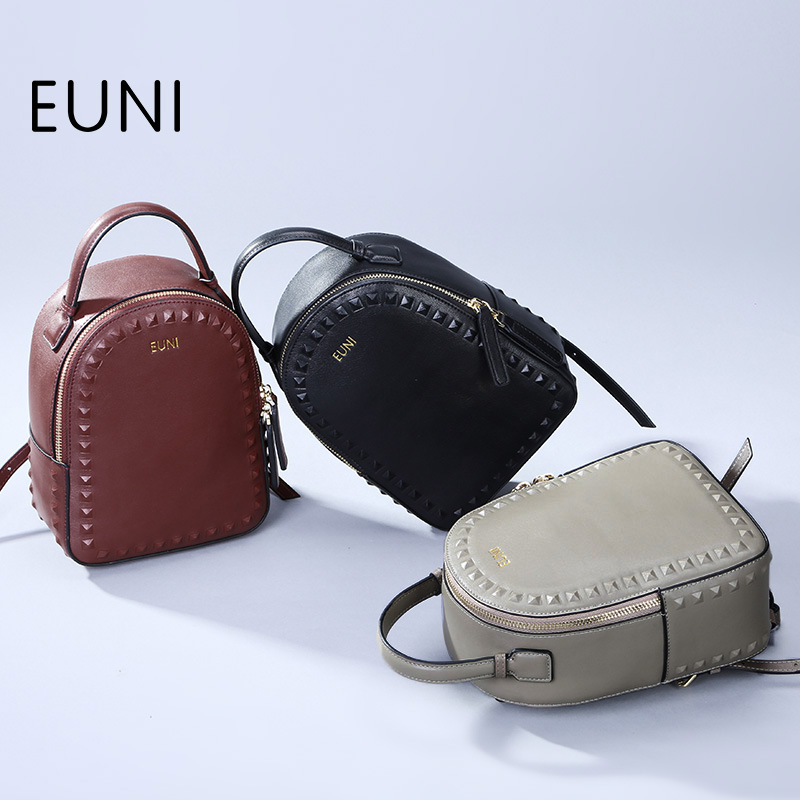 EUNI High Quality Women Leather Backpack Fashion European and American Style Woman Backpacks For Teenage Girls School Bag high tech and fashion electric product shell plastic mold