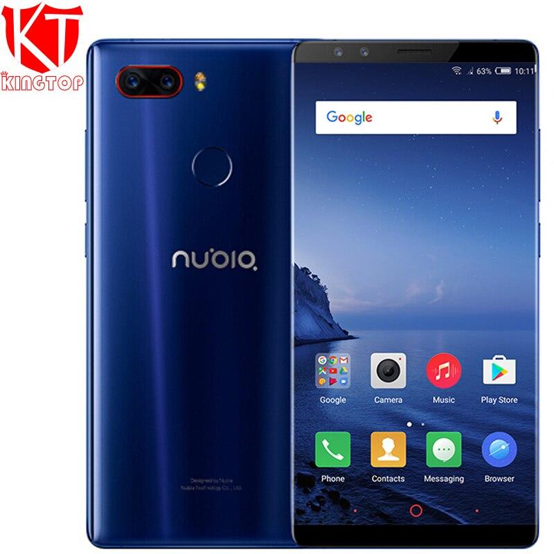 Nubia originais Z17S 4G LTE Mobile Phone 8 GB RAM 128 GB ROM 5.73 polegada Android 7.1 Snapdragon 835 câmeras Frontal e Traseira NFC telefone