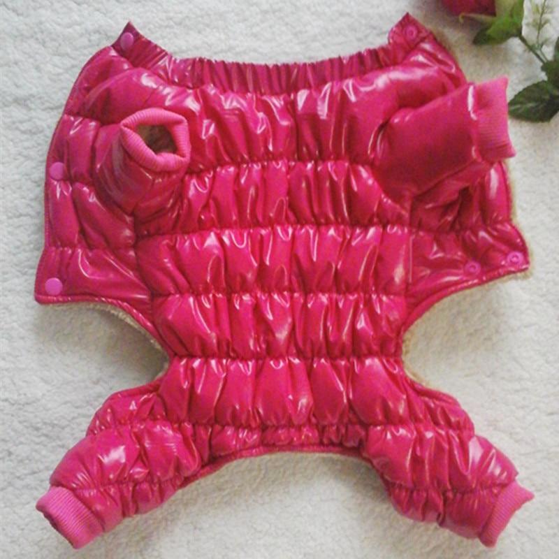 Vinter hundkläder för små hundar Jacka PU Vattentät Sportkläder - Produkter för djur