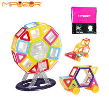 MIPOZOR Mini 76pcs Magnetic Designer Construction Sets Model & Building Nature Color Educational Magnetic Blocks Toys For Kids(China)