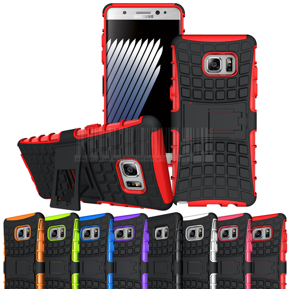 For Samsung Galaxy Note 7 Hybird Armor Impact Protective Hard Case + Kickstand Cover For Samsung Galaxy Note FE (SM-N935) 2017