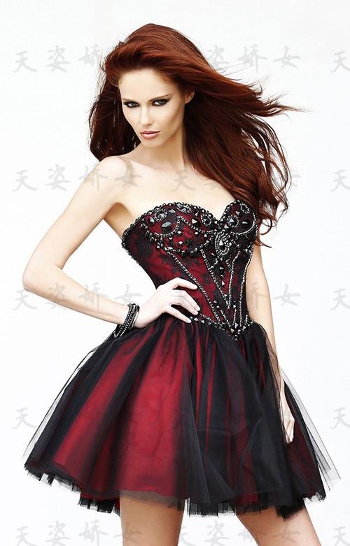 Cheap free shipping bride robe de soiree 2018 new fashion vestido de noiva sweetheart short crystal Party   bridesmaid     dresses