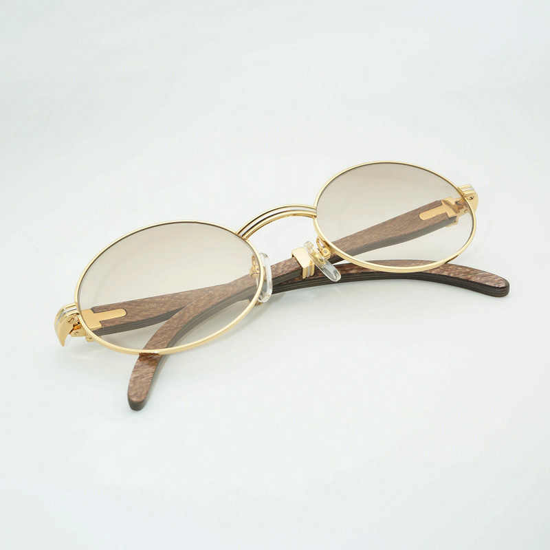 cf5abb3a3f1 Vintage Round Wooden Sunglasses Men Wood Sun Glasses For Outdoor Reading Clear  Glasses Frame Retro Shades