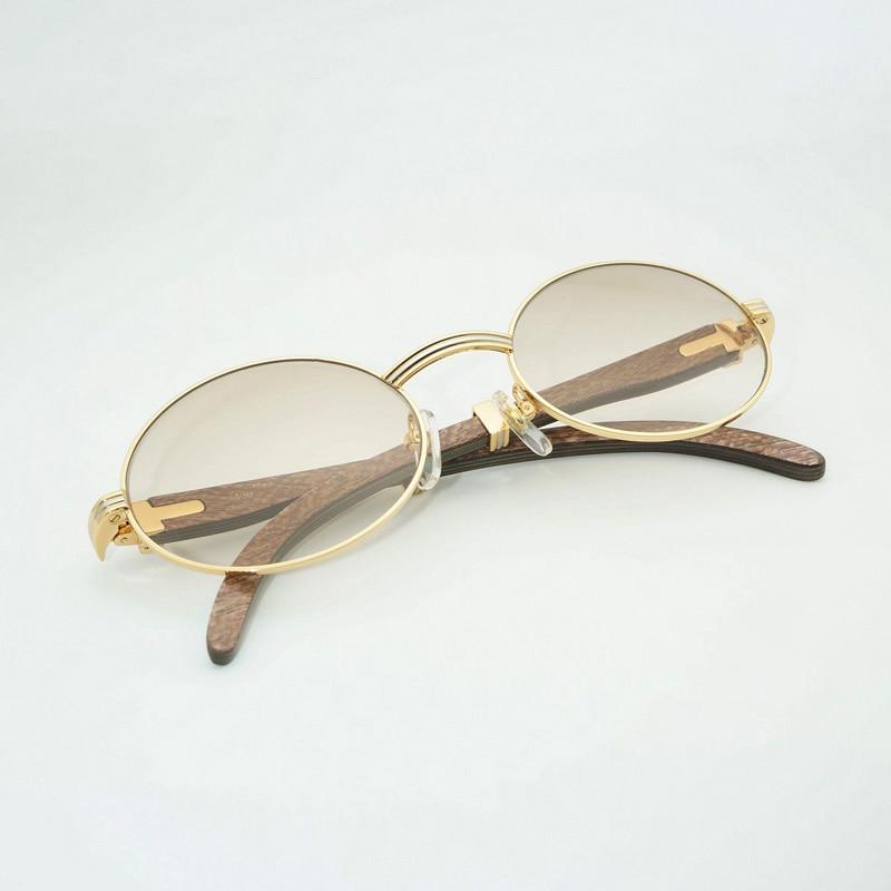 De luxe Rond Noir lunettes de soleil en bois lunettes de soleil pour homme Pour la Lecture En Plein Air Clair Lunettes Cadre lunettes rétro Oculos Lunettes Lunettes