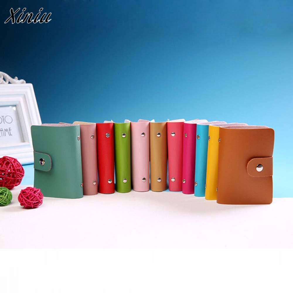 candy color PU Leather Card Case Business Card Holder Men&Women Credit Card Bag ID Card Wallet With American&European Style fashion solid pu leather credit card holder slim wallet men luxury brand design business card organizer id holder case no zipper