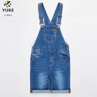 YUKE Boy Spring and Summer Straps Shorts Denim Harness Pants Denim Overalls Children's Jeans 4 9 Age Denim Strap Pants M11492