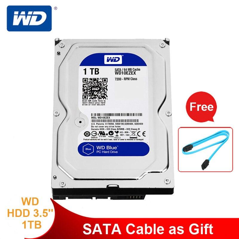 Western Digital 1 to bleu disque dur de bureau HDD disque dur interne 3.5 ''7200 tr/min SATA 6 Gb/s 1 to disque dur ordinateur HD