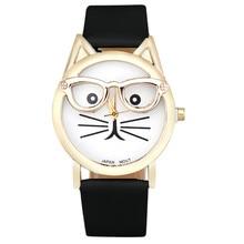 Cute Glasses Cat Wrist Watch