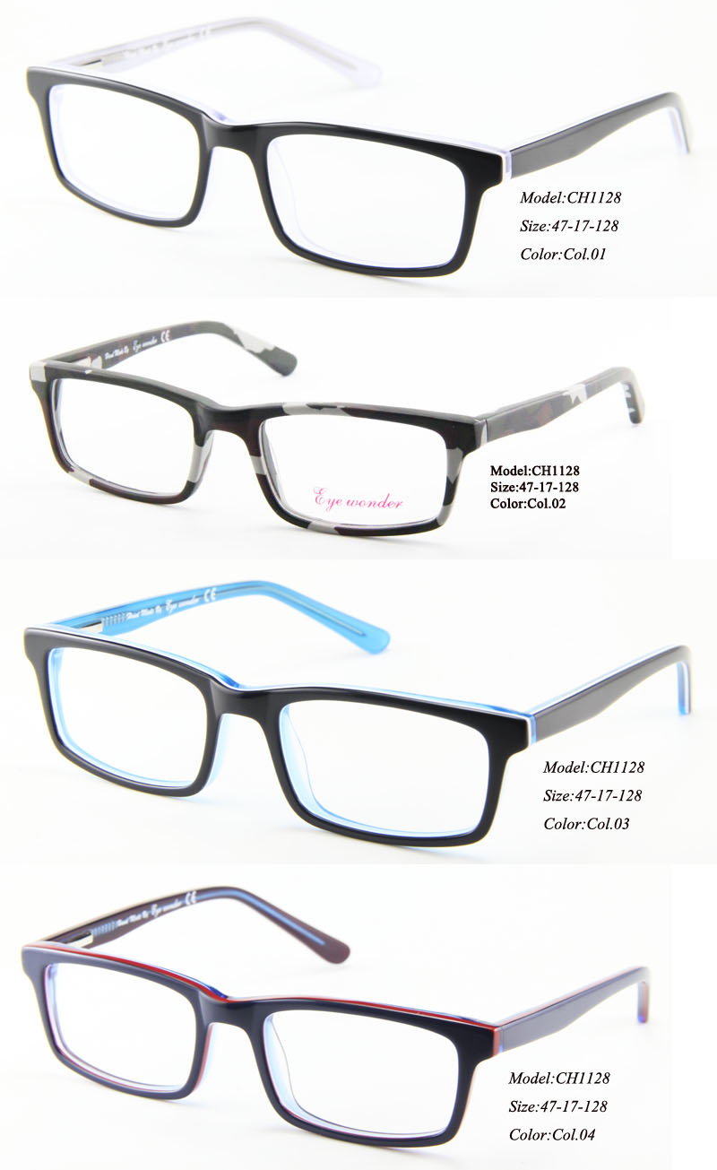 wholesale kids glasses hand made full rim acetate designer glasses frames for boys girls eyewear