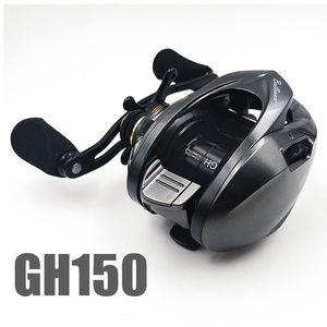 Image 2 - DHL darmowa wysyłka 2019 kołowrotek tyczki GH150 GH100 7.2: 1 najlżejszy przynęty przynęty odlewania kołowrotek dla okoń tilapia pstrąg bass