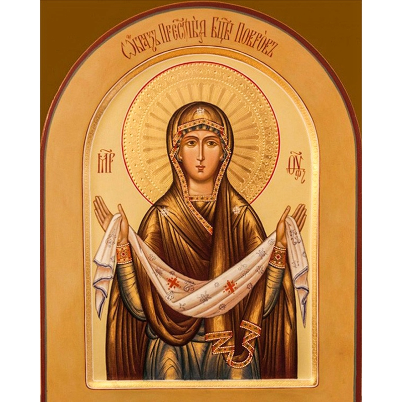 Religioso, 5D Diy Square Diamond Painting, La Madre de Dios, bordado - Artes, artesanía y costura
