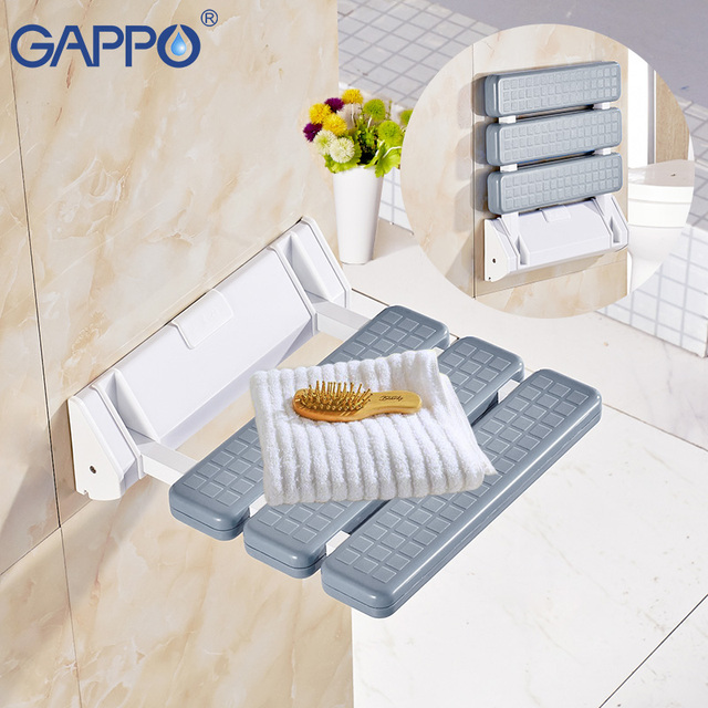 GAPPO Wall Mounted Shower Seats bathroom shower chair shower folding seat Bath shower bench Stool toilet bath folding chair