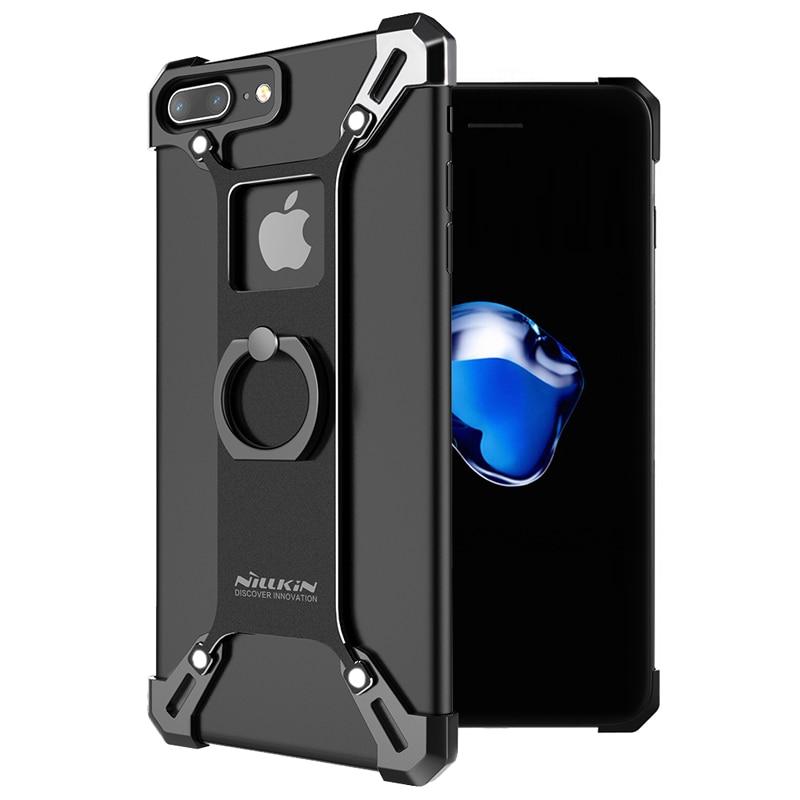 """imágenes para Nillkin De Aluminio Duro de La contraportada Para el iphone 7 plus capa práctico cubierta del soporte del teléfono con el anillo de soporte para el iphone 7 4.7 """"parachoques"""