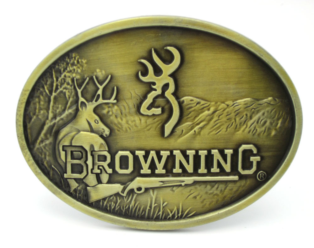 Browning Hunting Belt Buckle Bronze Finish