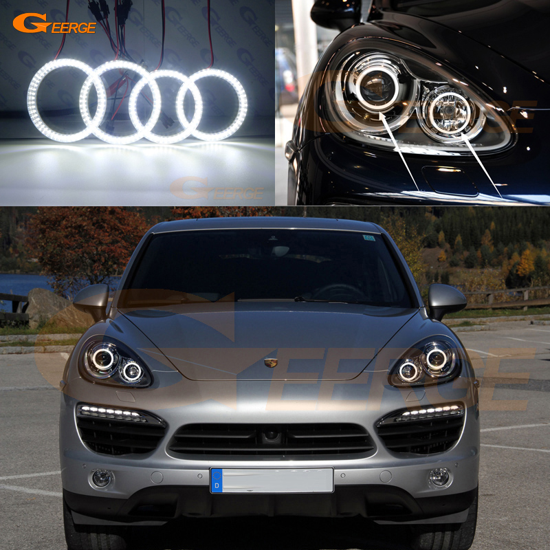 For Porsche Cayenne 958 2011 2012 2013 2014 Excellent Angel Eyes Ultra bright illumination smd led