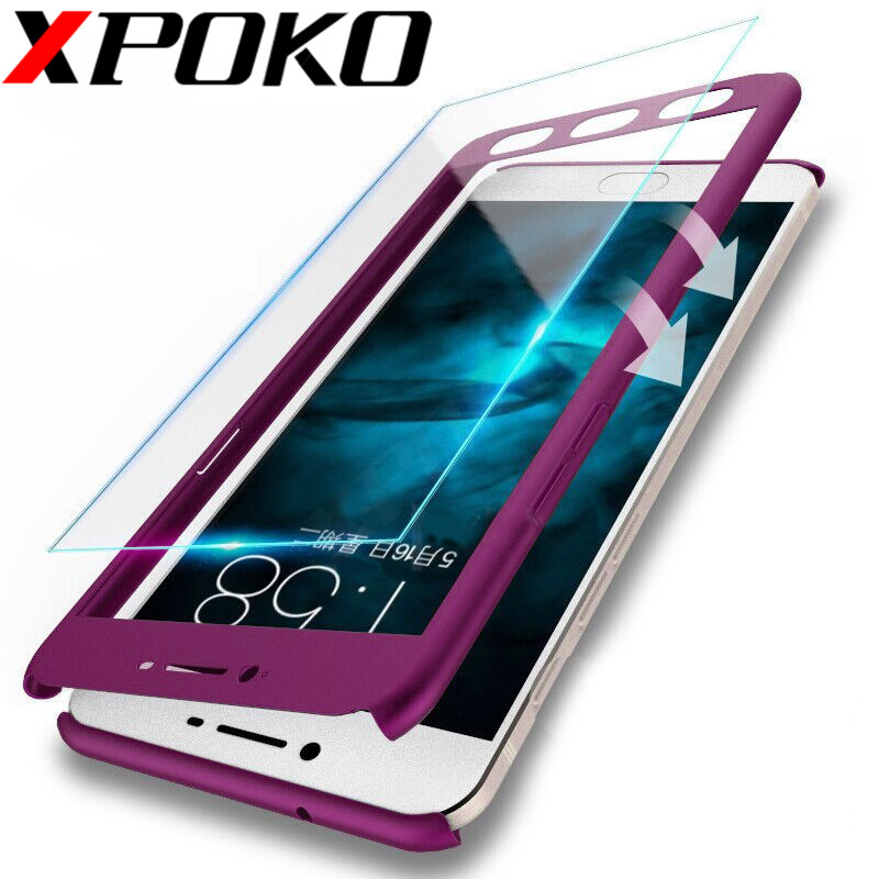 360 Degree Full Cover Protection Case For Xiaomi Redmi 4X 6A 4A Phone Case For Redmi S2 Note 5A 5 Redmi 5 Plus White Glass