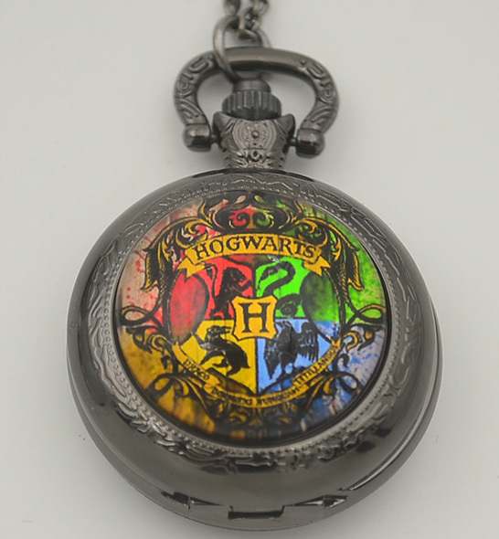 Harry Potter Quartz Pocket Watch Hogwarts Dracodormiens Nunquam Titillandus Analog Pendant FOB Watches Necklace Woman Gift Hot