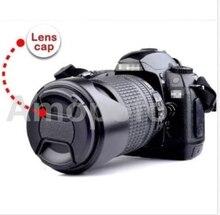 Universal 37mm Centro Belisque Snap-on Lens Cap Frente Adequado para Nikon/para sony/para Canon/para Samsung Camera, Com Corda Anti-perdida