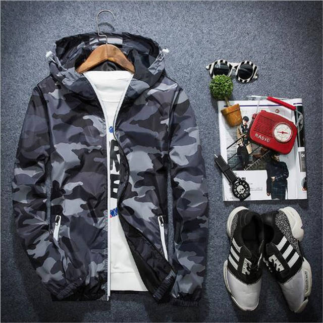 CAMOUFLAGE CASUAL HOODED JACKET (4 VARIAN)