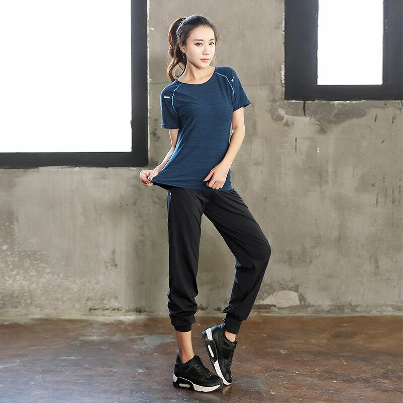 Talla grande mujeres Pro Fitness2 piezas conjunto Leggings + Top ropa de entrenamiento gimnasio deporte correr chica Yoga ejercicio apretado Culturismo l 4XL - 3