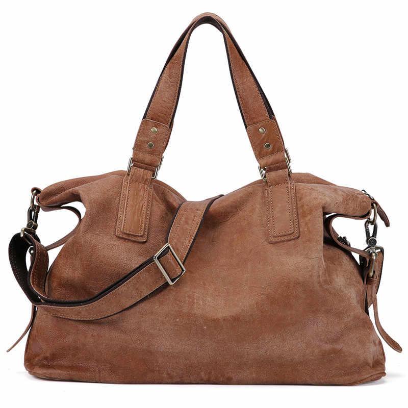 Nesitu большой емкости Большой Винтаж кофе черный коричневый из натуральной кожи женские сумки-мессенджеры женские сумки на плечо M158