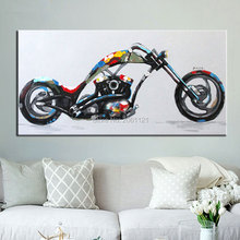 100% Hand made promotion canvas painting cool motorcycle art picture Home Decor Oil Painting on gift for boy