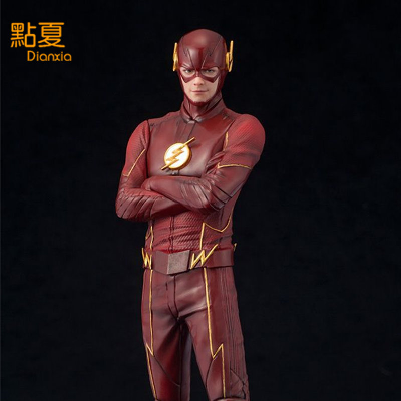 DIANXIA 2017 New Arrival Western Anime Film The Flash Hero Barry Action Figure Toy Hot Sale Gift Toys For Kids PVC High 17.5cm hot sale removable armor deformable big hero 6 2015 new deformable robot baymax children s action toy figures holiday gift