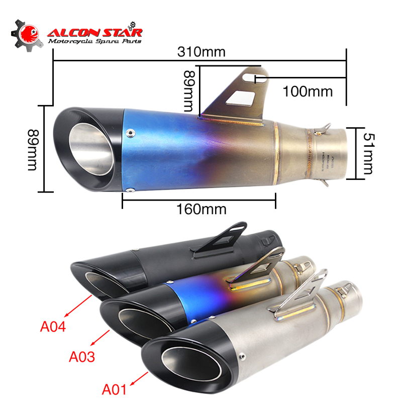 Alconstar 51mm SC Modified Motorcycle Exhaust Escape Modified GP Marking Muffler Moto For trk502 Suzuki gsr 600/750 Alconstar 51mm SC Modified Motorcycle Exhaust Escape Modified GP Marking Muffler Moto For trk502 Suzuki gsr 600/750