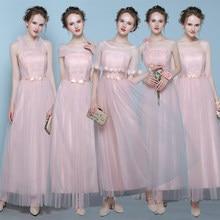 One Shoulder Light Pink Bridesmaid Dresses Cheap Bridesmaid Dress Bride  Sister Guests Long Party Dresses A1938 8b4bee02f5d9