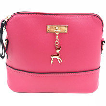 2018 Hot Women's Handbags Leather Fashion Small Shell Bag With Deer Toy Women Shoulder Bag Casual Crossbody Bag