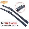Limpadores de para vw crafter qeepei 2006-presente 26 ''+ 24'' acessórios para o automóvel de borracha preços windshield wiper blade, cpb110-2