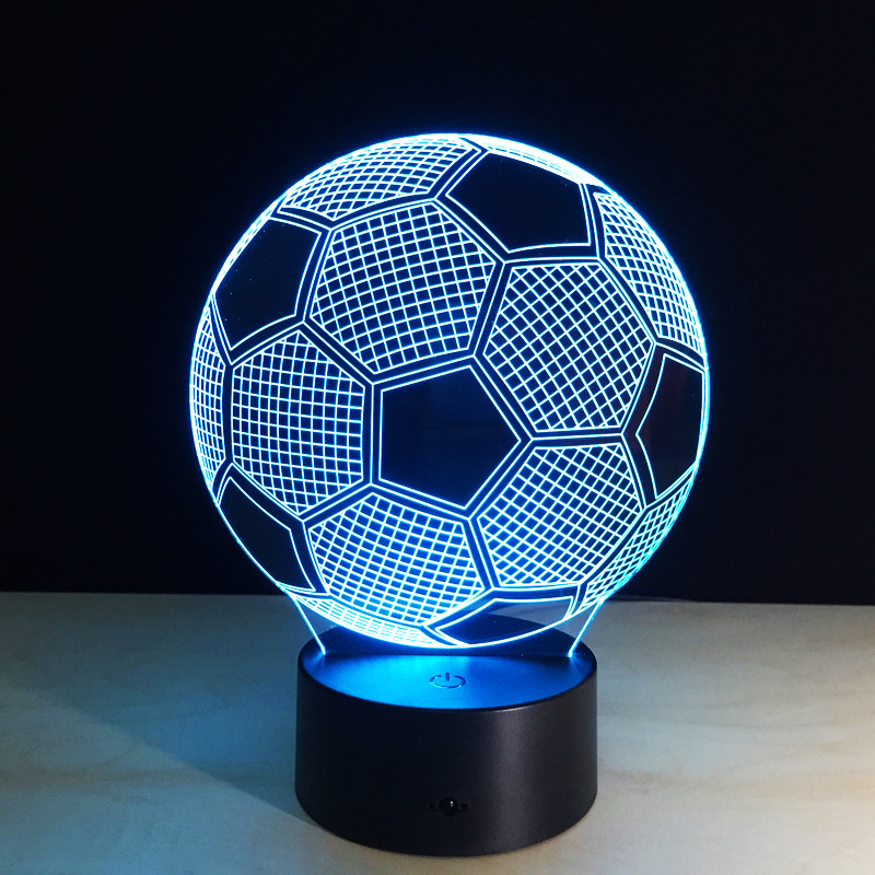 Creative 3D illusion Table Lamp LED Night Lights Football Design Novelty  Atmosphere Night Light Home Room Decoration Kid gifts-in Night Lights from  Lights ... - Creative 3D Illusion Table Lamp LED Night Lights Football Design