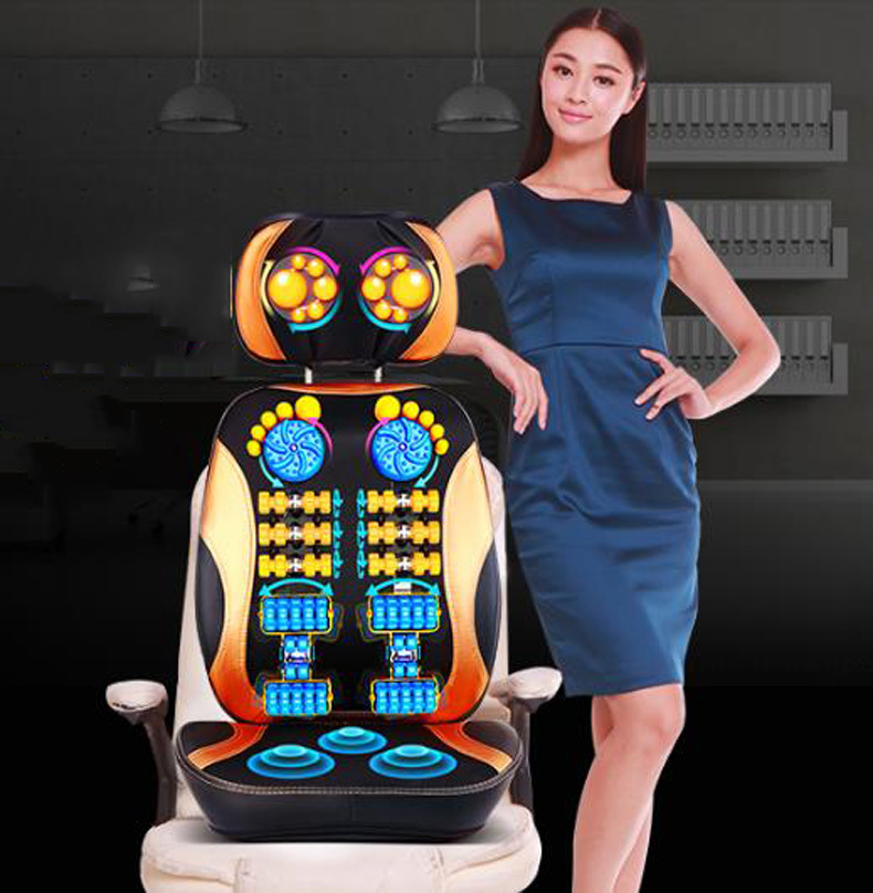 Household full-body massage cushion/Electric back massager neck malaxation massage device multifunctional pillow/110904/01 2017 hot sale mini electric massager digital pulse therapy muscle full body massager silver