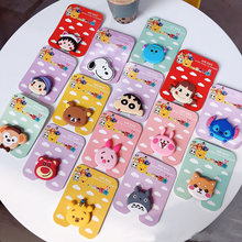 Universal Mobile Smartphone Stand Holder Cute Doraemon Melody Luna Cat Unicorn Phone Airbag Stand Silicone Finger Holder(China)