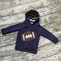 Бесплатная доставка девушки одежда для футбола bbay девушки бутик балахон детей темно-синий костюмы футбол толстовка