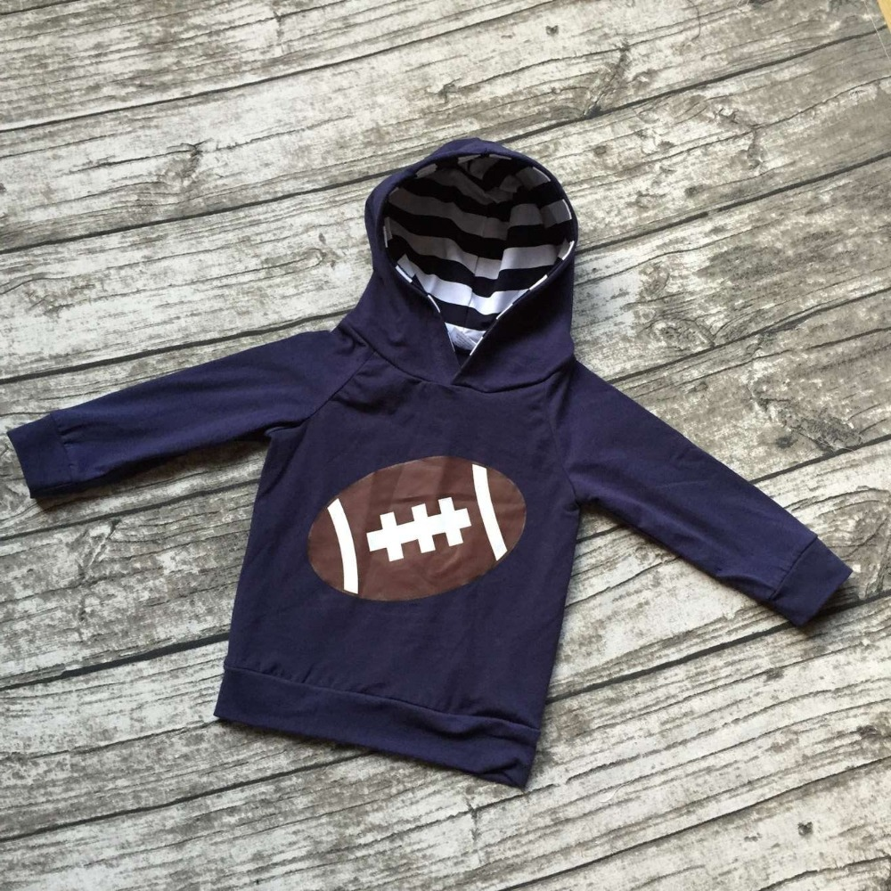 Free shipping girls football clothing bbay girls boutique hoodie children navy blue outfits ...