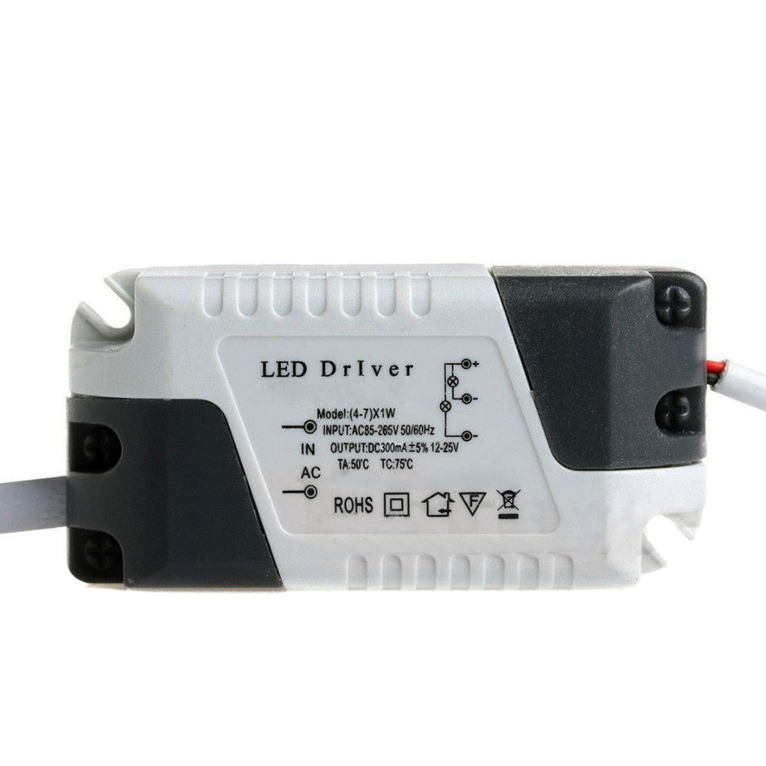 3W-25W Plastic Shell Constant Current 300mA LED Driver Power Supply Adapter For LED Lamp  AC85-265V
