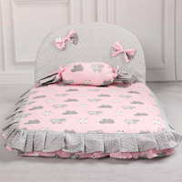 Candy Princess Dog Bed Dog House Nest Blue Pink Autumn Winter Pet Sofa Cushion Cover Car Mats For Little Small Animal Pets