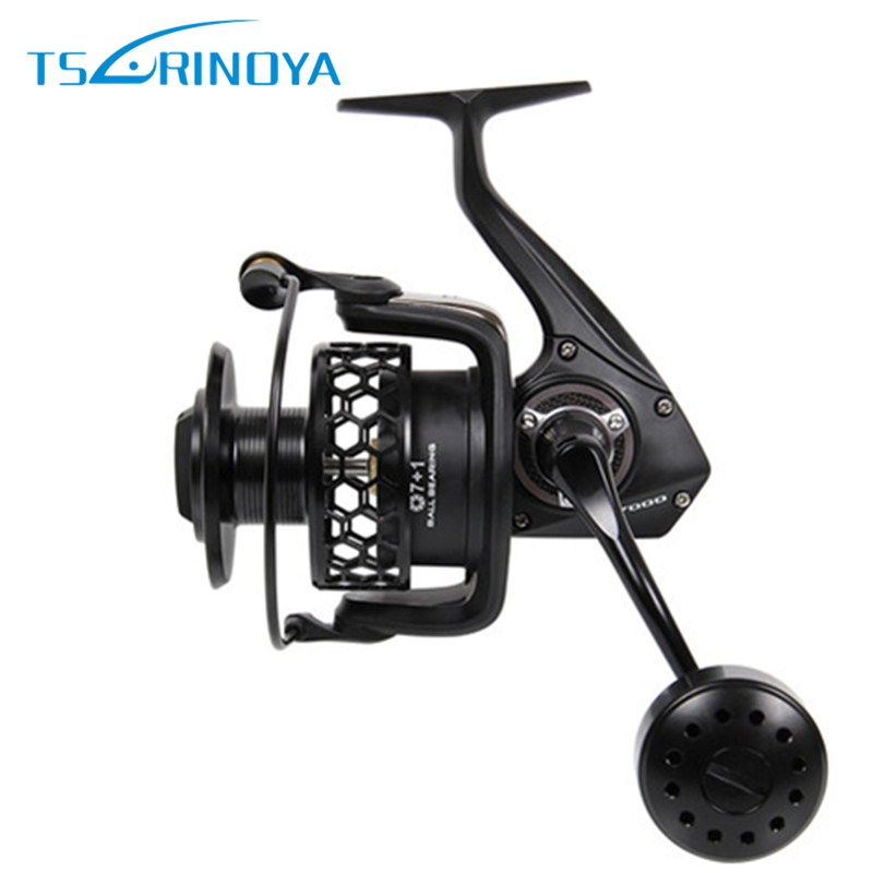Tsurinoya TSP7000 Full Metal Distant Wheel 20kg/7+1BB/4.9:1 Spinning Fishing Reel Jig Ocean Reels Carretes Pesca Molinete Peche tsurinoya tsp2000 spinning fishing reel with spare spool 11 1bb 5 2 1 full metal jig boat lure reels carretes pesca molinete