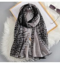 2019 حار بيع النساء الجرسية طباعة والأوشحة شالات طويلة ليوبارد التفاف الحجاب الخمار 3 اللون الجملة 10 قطعة/الوحدة شحن مجاني