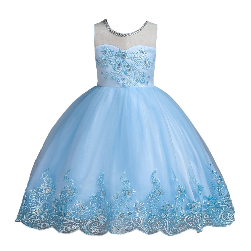 1 14 Years Kids Dress for Girls Wedding Tulle Lace Short Girl Dress Elegant Princess Party Pageant Formal Gown for Teen Children