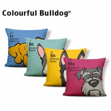 Cavalier King Charles Spaniel Cushion Cover Dog Pillow Case Schnauzer Bulldog Table Beds Toss Pillow Small Polyester Dropship(China)