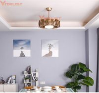 New Modern Ceiling Fan Lights no Blade DC Fan Lamp Remote Control Bedroom Dining Room Living High end 110V 220v Ceiling Fans 48w