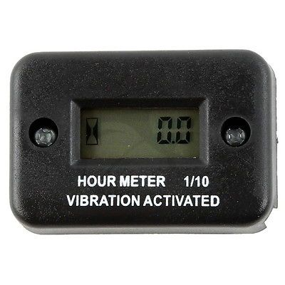 Motorcycle New Tach Vibration Activated Hour Meter Counter Waterproof For ATV Snowmobile Gas Engine Boat Motorbike