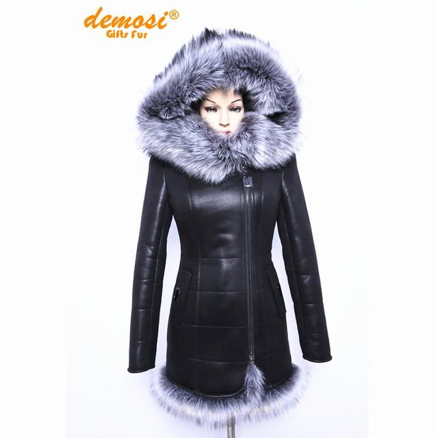 2018 Factory direct supplier Artificial fox fur fashion big yards thick Hooded women coat new 7XL thick winter Faux Suede jacket