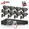 8CH CCTV System 2TB HDD Onvif 1080P HD H 264 Varifocal 2 8mm 12mm 2 Array