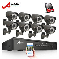 8CH CCTV System 2TB HDD Onvif 1080P HD H 264 Varifocal 2 8mm 12mm 2 Array