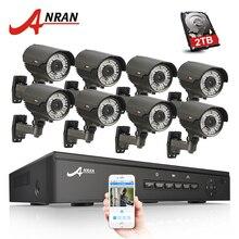 ANRAN 8CH 48 V POE NVR CCTV Sistemi Onvif P2P 1080 P HD Değişken Odaklı 2.8mm-12mm IP kamera POE Güvenlik Gözetim Kiti